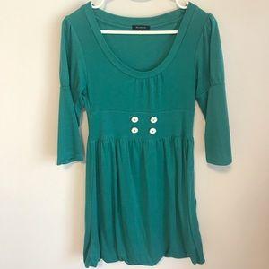 Dresses & Skirts - Turquoise 3/4 Sleeve Bubble Dress -38